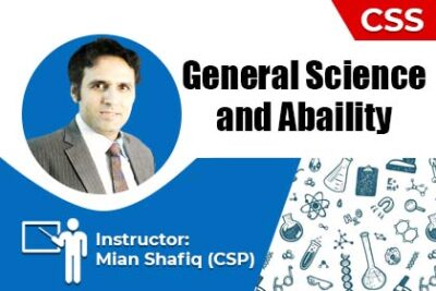General Science and Ability by Mian Shafiq (CSP)